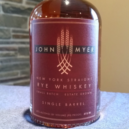 John Myer New York Straight Rye Whiskey, Single Barrel